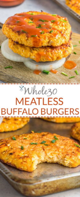 Whole30 Meatless Buffalo Burgers