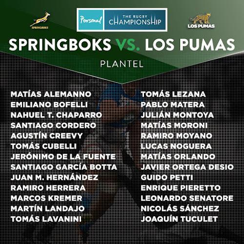 Los Pumas con plantel confirmado para viajar a Sudáfrica