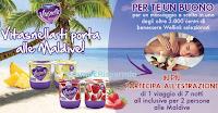 Logo Vitasnella ti porta alle Maldive e ti regala come premio certo un buono massaggio!
