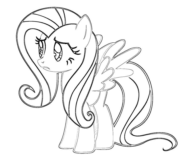 Fluttershy free colouring pages for Fluttershy coloring pages