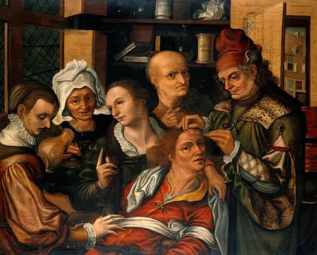Pieter Huys, A surgeon extracting the stone of folly
