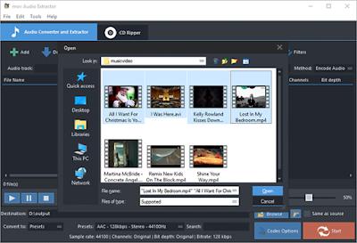 برنامج mov audio extractor لفصل الصوت عن الفيديو اخر اصدار 2016
