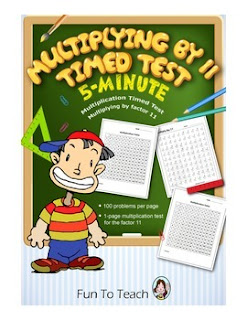 https://www.teacherspayteachers.com/Product/Multiplication-5-Minute-Timed-Test-Multiplying-by-11-602086