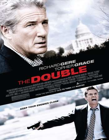 Poster Of The Double 2011 Dual Audio 300MB BRRip 480p ESubs Free Download Watch Online Worldfree4u