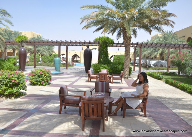 Tilal Liwa Hotel lawn