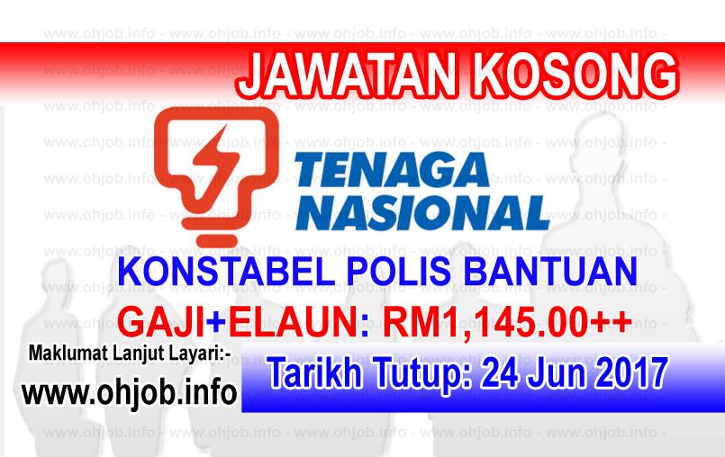 Jawatan Kerja Kosong Tenaga Nasional Berhad - TNB logo www.ohjob.info jun 2017