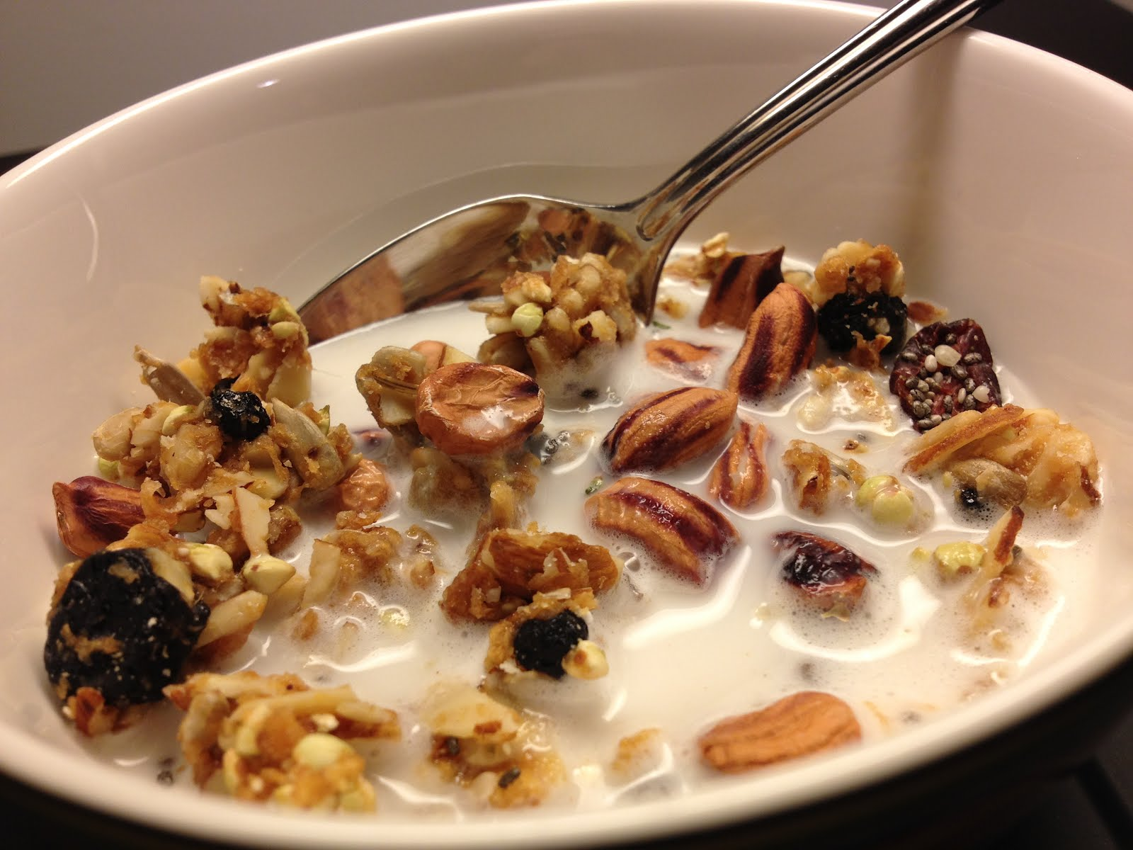 Image result for almond milk in cereal