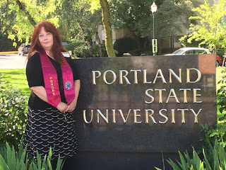 photo of Anna Glendenning on graduation day. PSU Honors College B.S. in Sociology