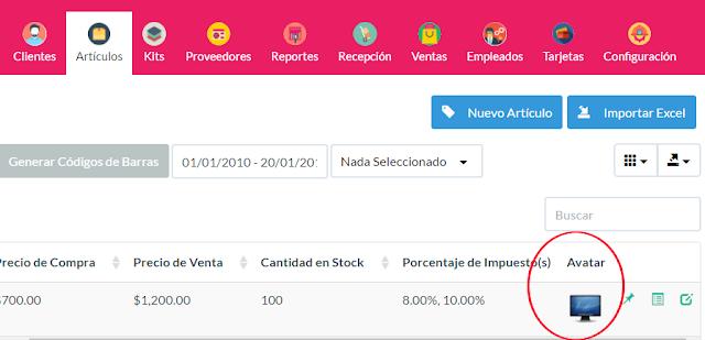 Productos Sistema de Ventas OpenSource | ConectatePeru