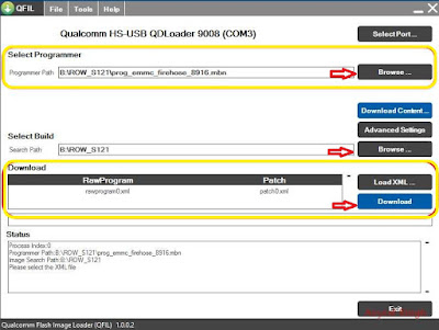 flash lenovo s60 - using qfil