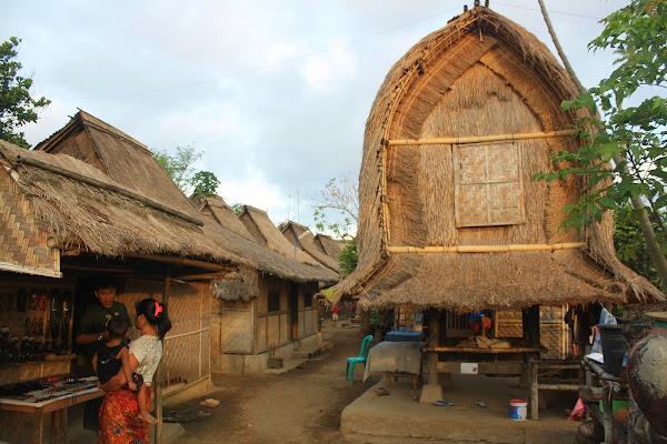 Rumah dan lumbung di Dusun Sade Rembitan Lombok