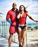 Baywatch (2017) Alexandra Daddario and Dwayne Johnson Image 1 (1)