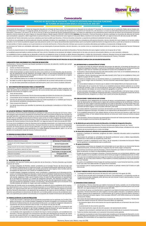 Convocatoria para selecci n de tutores para docentes de for Convocatoria para docentes
