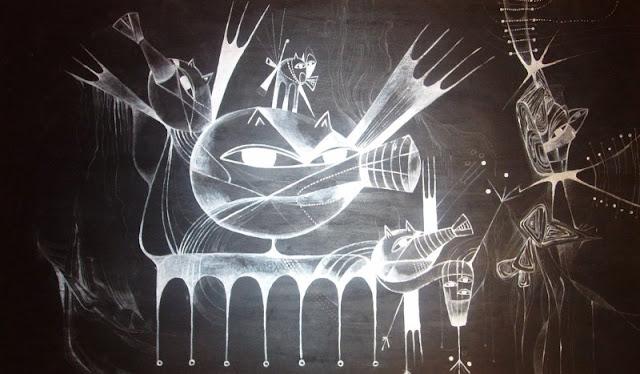 Наивные рисунки акварелью. Estela Cuadro 5