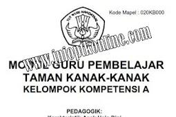 Download Kumpulan Modul PKB Guru Pembelajar 2017 Tingkat TK - PAUD