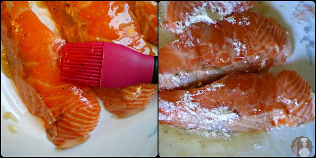 Salmón glaseado con salsa de lima: Elaboración