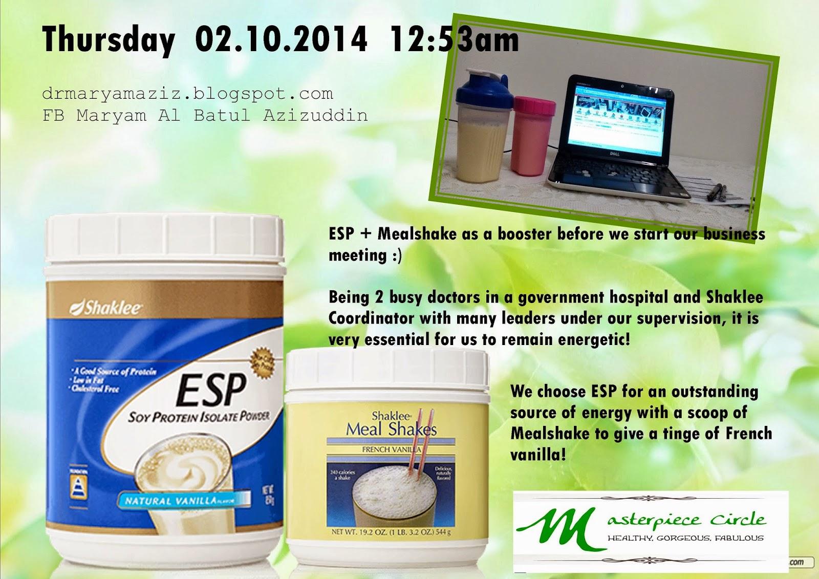 ESP Shaklee dr maryam aziz