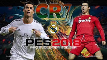 Cristiano Ronaldo Dragon Start Screen For PES 2018 by affan7x