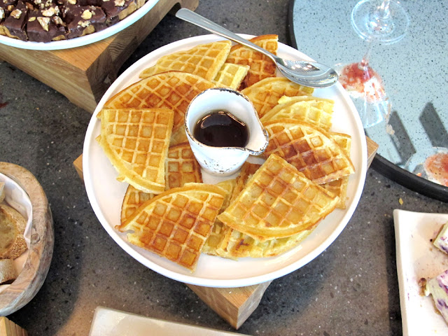 Waffles at Darwin brasserie - Sky Garden, London brunch