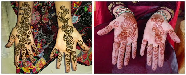 Mehendi before and after