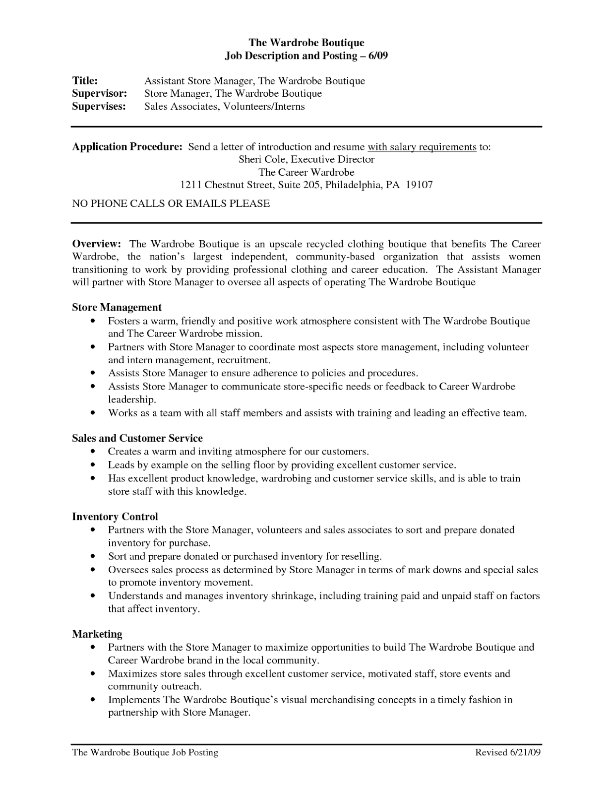 example resume retail objective for resume assistant manager and ...