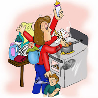 mom doing it all - busy!