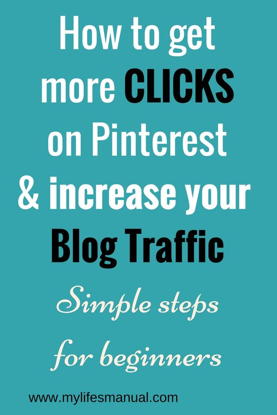 Pinterest for beginnners. How to increase your blog traffic using Pinterest. Simple ways to increase click through rate on Pinterest.