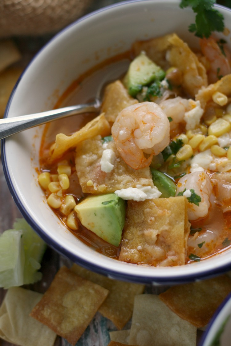 10-Minute Shrimp and Tortilla Soup