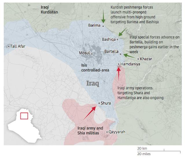 """Résultat de recherche d'images pour """" Mosul Tell Afar battle map"""""""