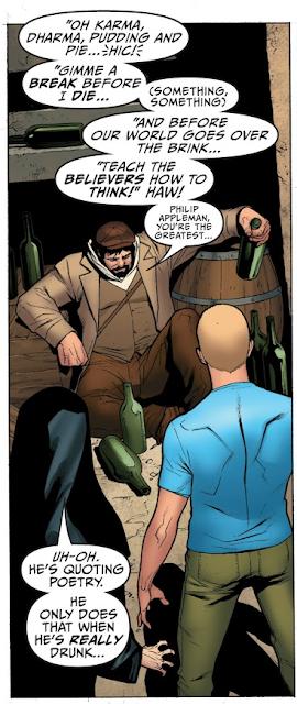 Armstrong cite Philip Appleman, affirmant sans vergogne son athéisme dans un comic book, ce qui est rare