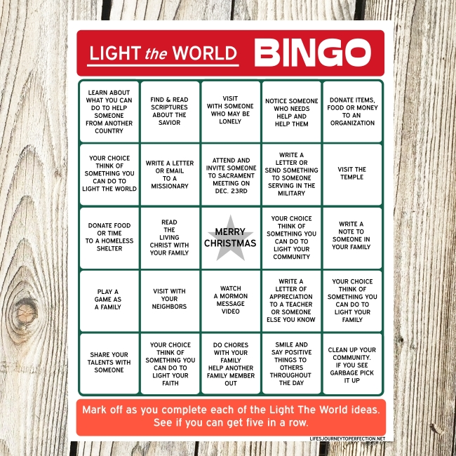 It's just an image of Mesmerizing Light the World 2020 Printable