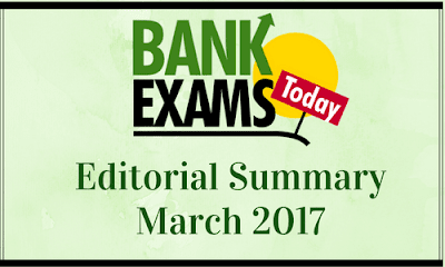 BankExamsToday Editorial Summary March 2017