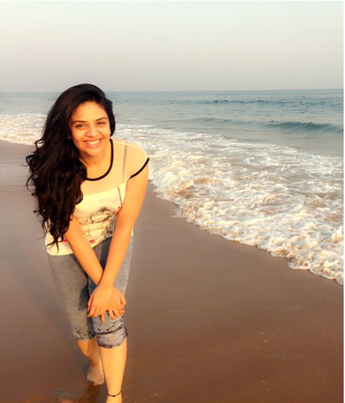 Anchor Sreemukhi at Rushikonda Beach photos