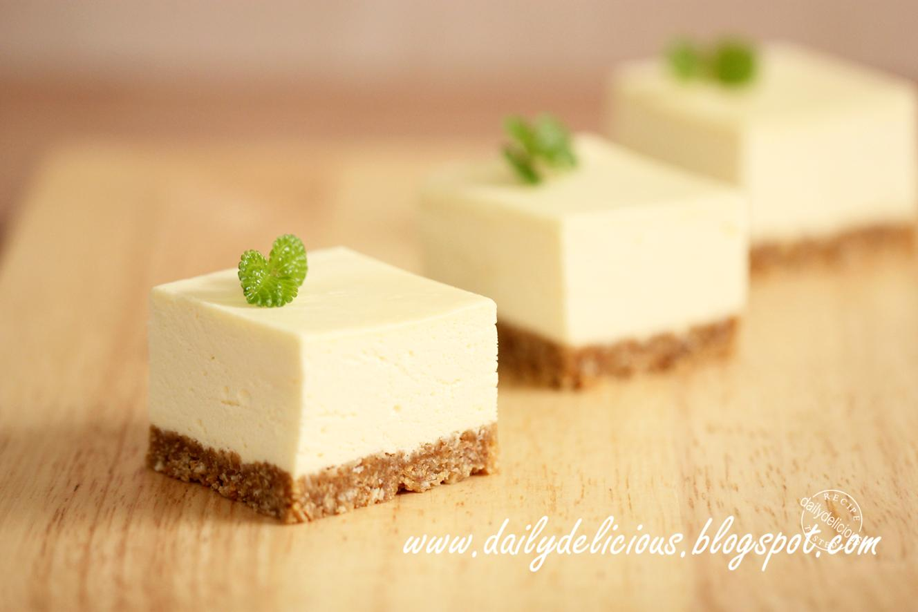 Dailydelicious Mini Honey Lemon Rare Cheese Cake Enjoy