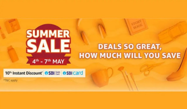 Popular Smatphones  Amazon Summer Sale Starts 4th - 7th May In 2019