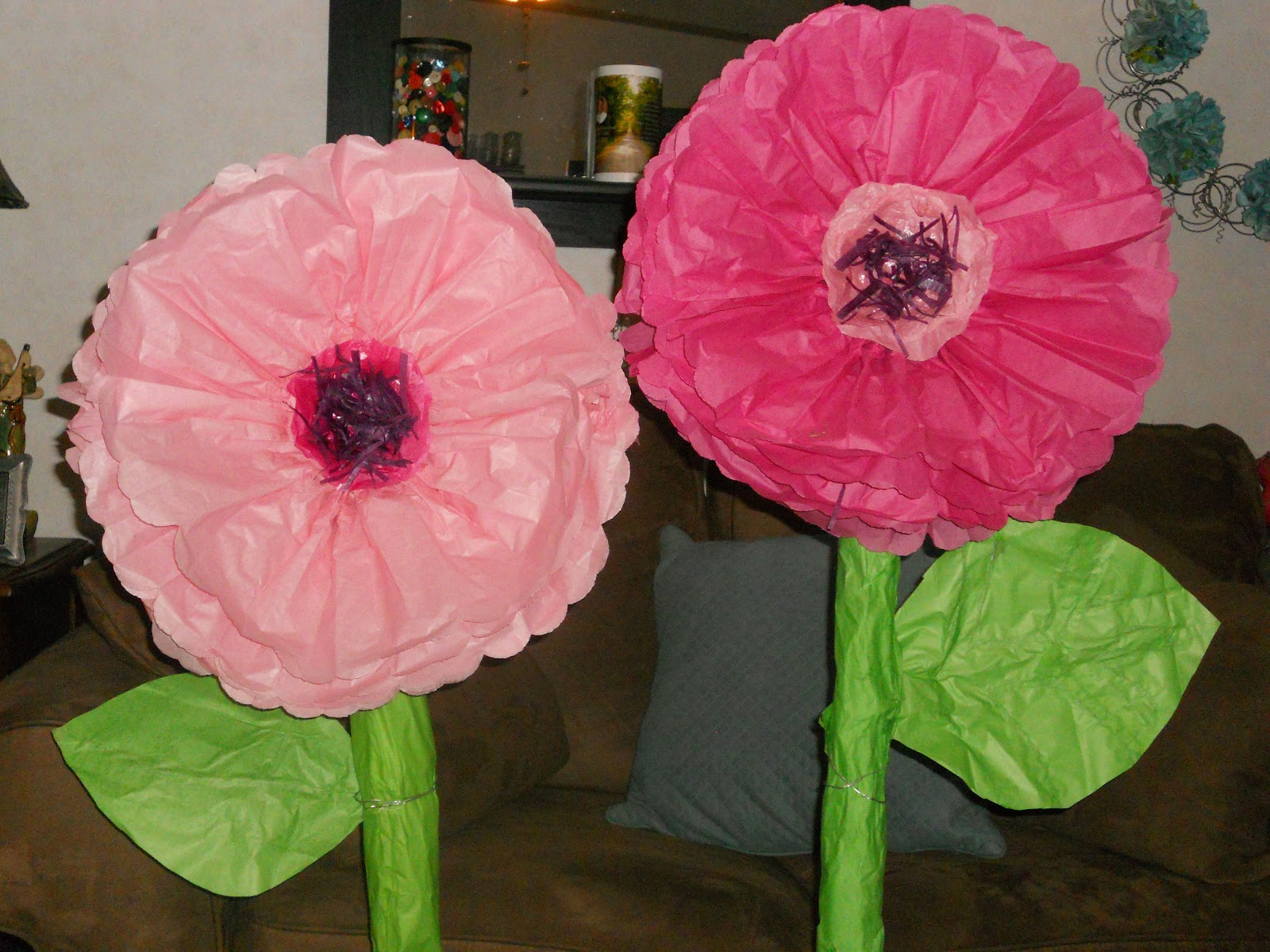Colorful giant tissue paper flowers diy photo wedding and flowers diy giant tissue paper flowers gallery flower decoration ideas mightylinksfo
