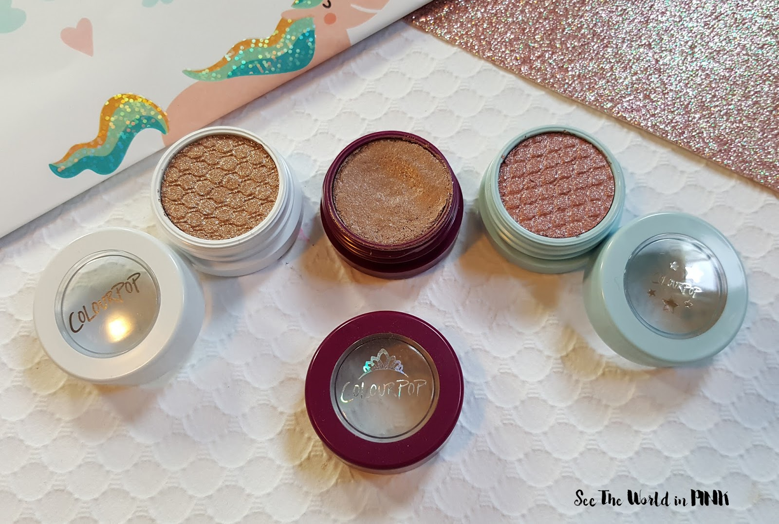 ColourPop Birthday Super Shock Shadows - Birthday Girl, Birthday Boy and Birthday Cake Swatches and Comparison!