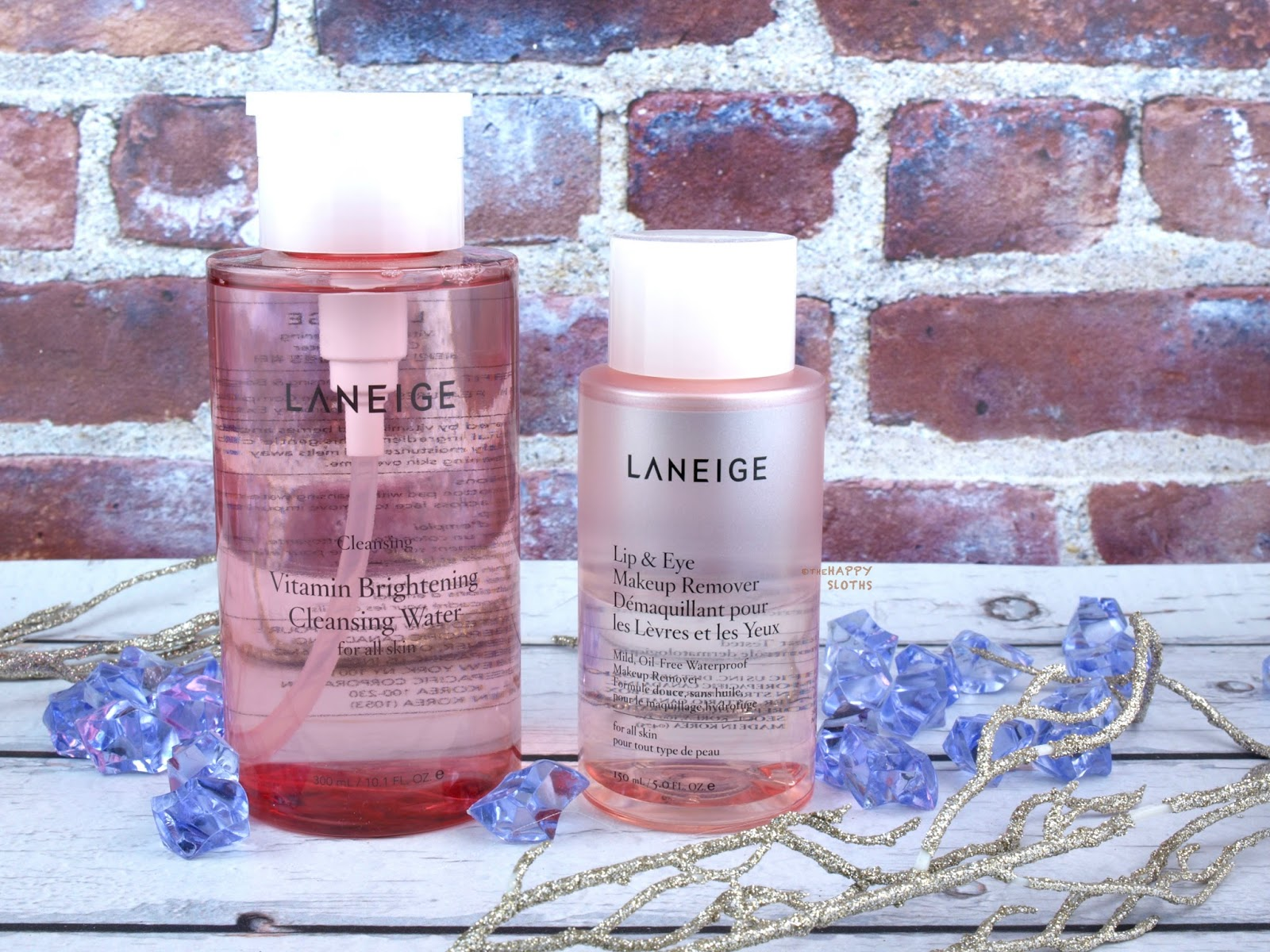 Taking Off The Day With Laneige Lip Eye Makeup Remover And Vitamin Brightening Cleansing Water Review The Happy Sloths Beauty Makeup And Skincare Blog With Reviews And Swatches