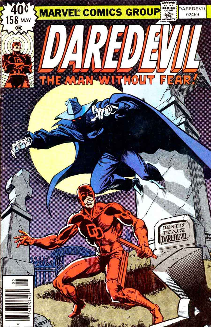 Daredevil v1 #158 marvel comic book cover art by Frank Miller