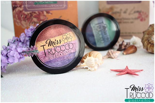 miss trucco eyeshadow palette ombretti terra e acqua mix perfetto viola bronzo review
