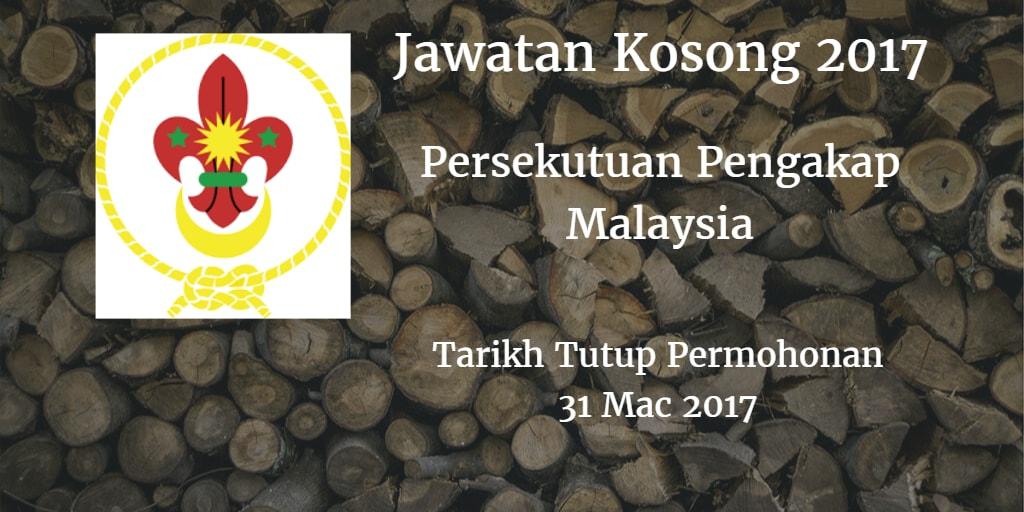 Jawatan Kosong Persekutuan Pengakap Malaysia 31 Mac 2017