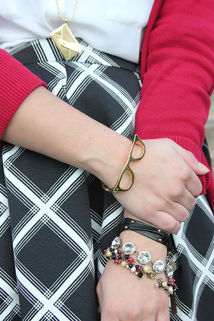 Kate Spade Envelope Necklace and Goreski Bangle Bracelet