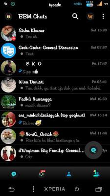 BBM Black Theme V2.13.0.26 Not Clone Apk