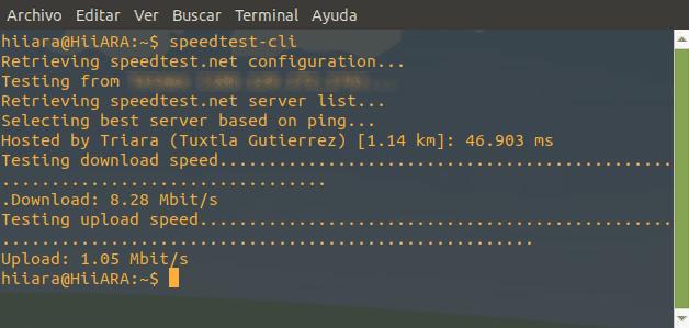 Speedtest en la terminal de Linux - El Blog de HiiARA