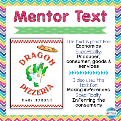 This post shares how to use a fun mentor text for economics & inferring.