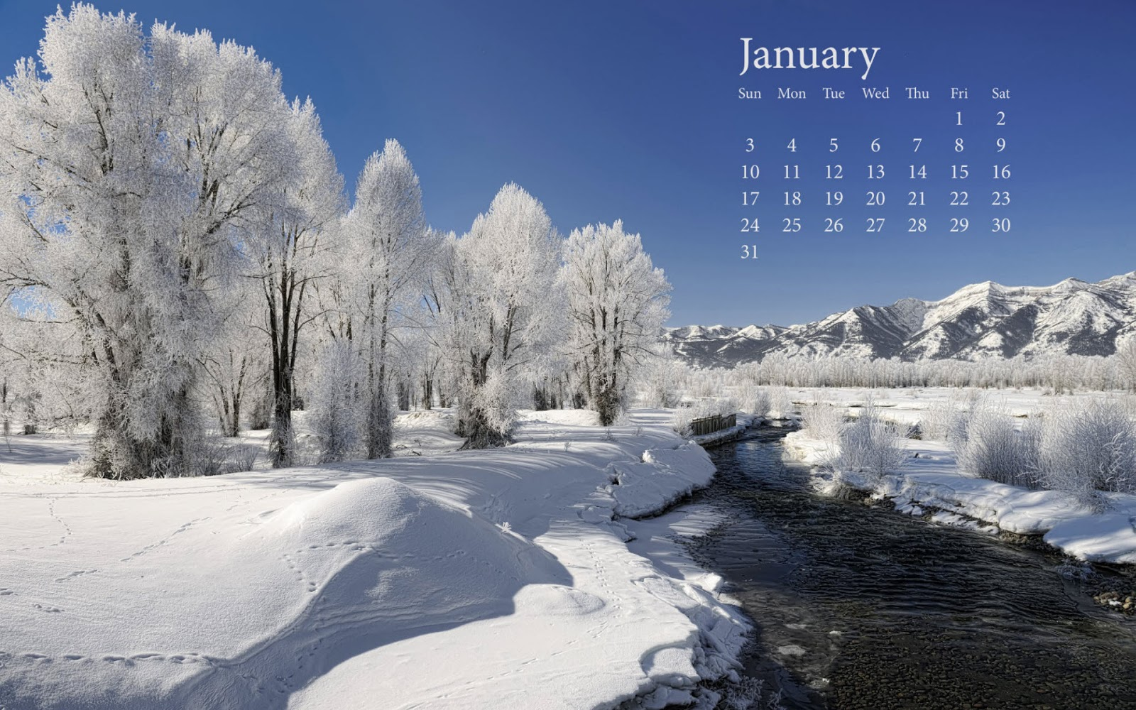 Download Free Desktop Wallpapers: January Wallpapers For