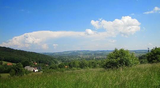 Widok na Pogórze Wielickie.
