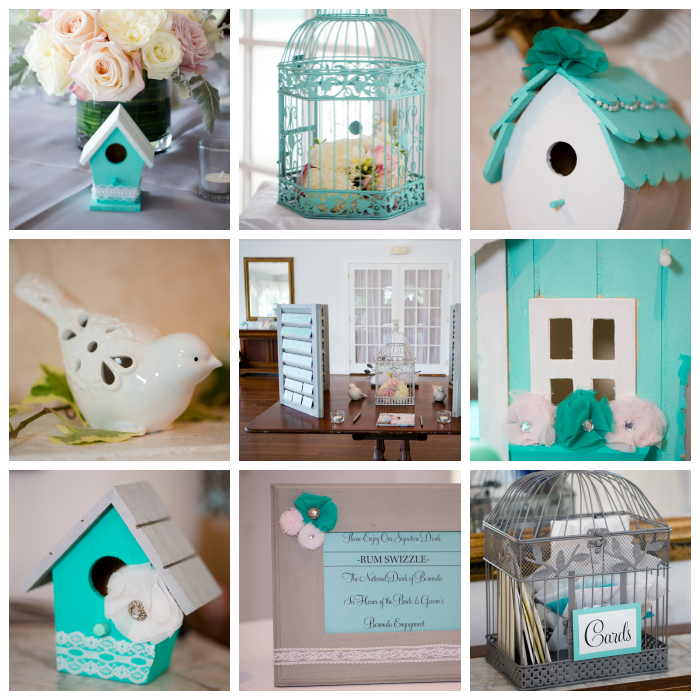 Wedding Wednesday- Craft ideas for the teal and grey shabby chic wedding