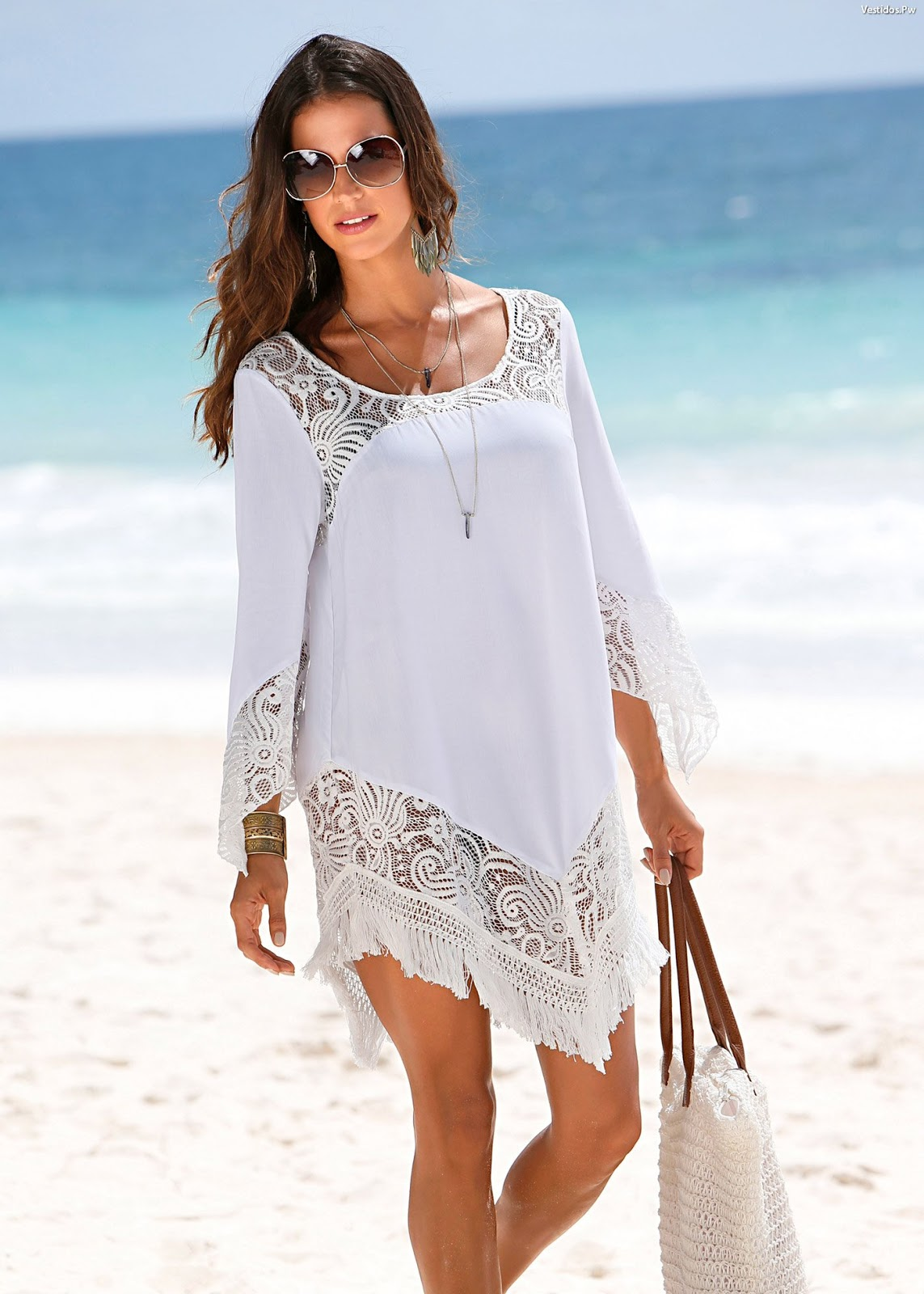 Vestido blanco playero largo