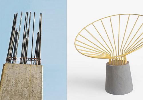 Kursi Reo Desain Fifth Column Inspirasi Besi Kolom Baja Kosntruksi Bangunan